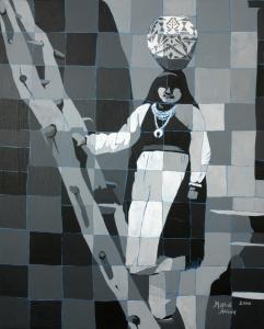 Laguna Girl in Black and White