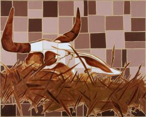 Cow Skull in Red Desert