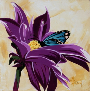 """Blue Butterfly and Daisy"""