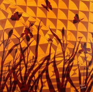 Burgundy Irises