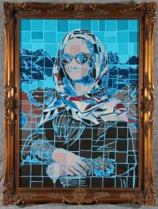 Mona Lisa in Pueblo Shawl