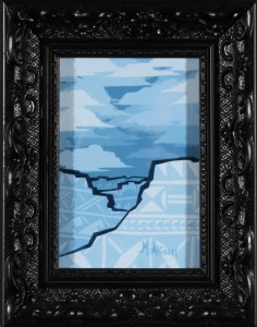 Blue Mesas and Clouds (framed)
